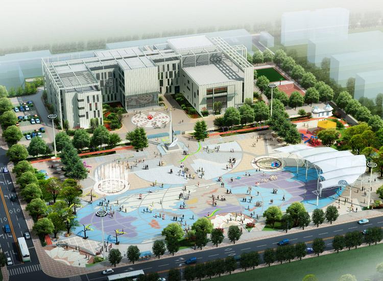 洞泾镇社区文化中心广场