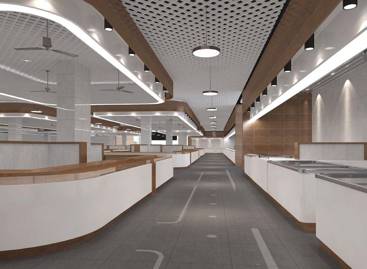 玉昆农贸市场室内装修设计项目